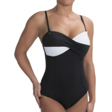 Lole Bonaire One-Piece Swimsuit - UPF 50+, Removable Straps (For Women) in Black/White - Closeouts