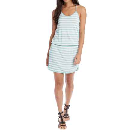 Lole Briley Dress - Racerback (For Women) in Aqua Splash Stripe - Closeouts
