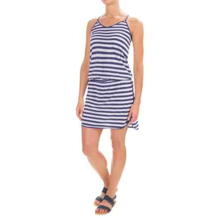 Lole Briley Dress - Racerback (For Women) in Twilight Blue Stripe - Closeouts
