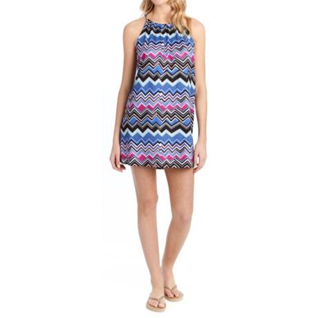 Lole Britt Tunic Dress - UPF 50+, Sleeveless (For Women) in Dazzling Blue Chevron Stripe