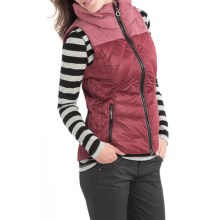 Lole Brooklyn Down Vest - Waterproof, 500 Fill Power (For Women) in Cabernet Heather - Closeouts