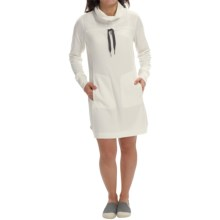 Lole Call Me Dress - Cowl Neck, Long Sleeve (For Women) in Vanilla - Closeouts