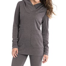 Lole Call You Hooded Sweatshirt (For Women) in Dark Charcoal Heather - Closeouts