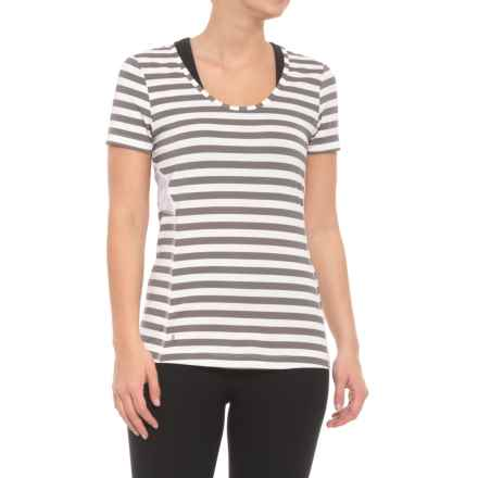 Lole Cardina T-Shirt - UPF 50+, Short Sleeve (For Women) in Meteor Stripe - Closeouts