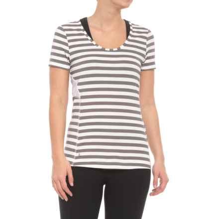 Lole Cardina T-Shirt - UPF 50+, Short Sleeve (For Women) in Meteor Stripe - Closeouts