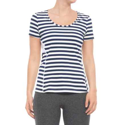 Lole Cardina T-Shirt - UPF 50+, Short Sleeve (For Women) in Mirtillo Blue Stripe - Closeouts