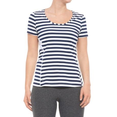 Lole Cardina T-Shirt - UPF 50+, Short Sleeve (For Women) in Mirtillo Blue Stripe