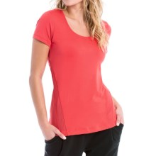 Lole Cardio T-Shirt - Scoop Neck, Short Sleeve (For Women) in Bittersweet - Closeouts