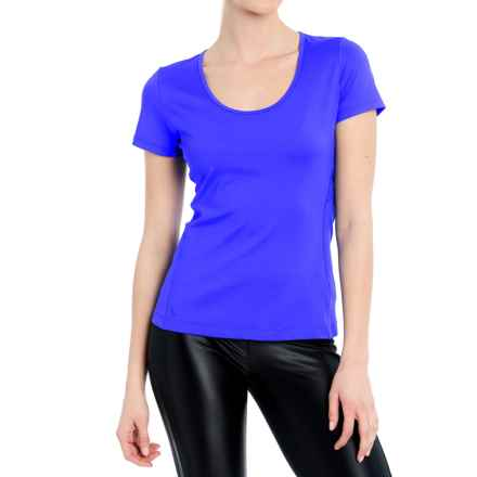 Lole Cardio T-Shirt - Scoop Neck, Short Sleeve (For Women) in Dazzling Blue - Closeouts