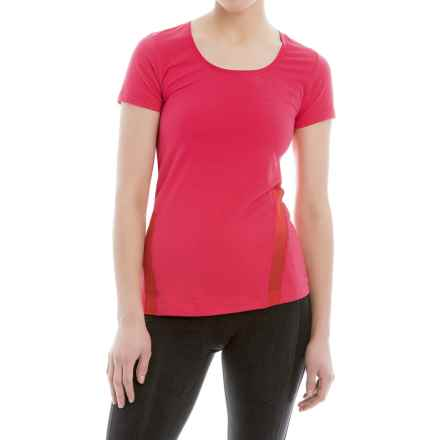 Lole Cardio T-Shirt - Scoop Neck, Short Sleeve (For Women) in Strawberry Pop - Closeouts