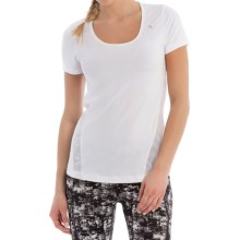 Lole Cardio T-Shirt - Scoop Neck, Short Sleeve (For Women) in White - Closeouts