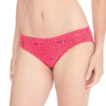 Lole Caribbean Swim Tech Bikini Bottoms - UPF 50+ (For Women) in Rhubarb Lindo - Closeouts