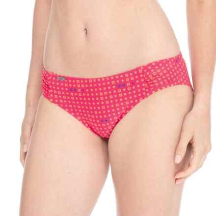 Lole Caribbean Swim Tech Bikini Bottoms - UPF 50+ (For Women) in Rhubarb Lindo - Closeouts