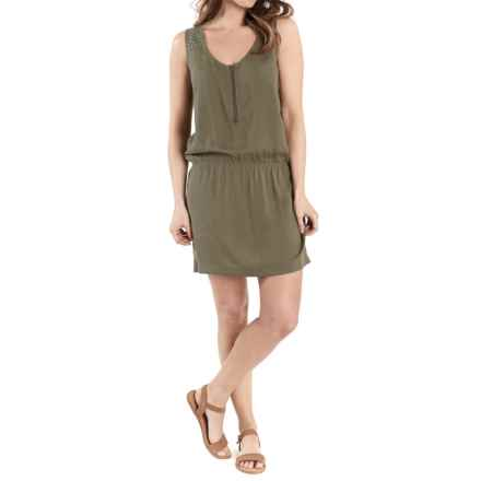 Lole Carter Zip Neck Dress - Sleeveless (For Women) in Lichen - Closeouts