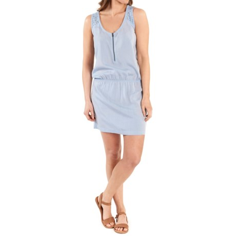 Lole Carter Zip Neck Dress - Sleeveless (For Women) in Zenith