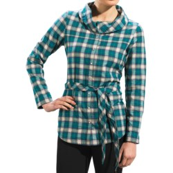 Lole Cecilia Shirt - Flannel, UPF 50+, Long Sleeve (For Women) in Hydro Thermal Plaid