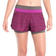 Lole Charlie 2-in-1 Shorts (For Women) in Mulberry - Closeouts