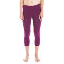 Lole Chasana Capris - Organic Cotton Blend (For Women) in Dark Purple - Closeouts