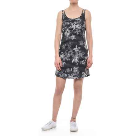 Lole Cici Dress - Sleeveless (For Women) in Black Striped Flowers - Closeouts