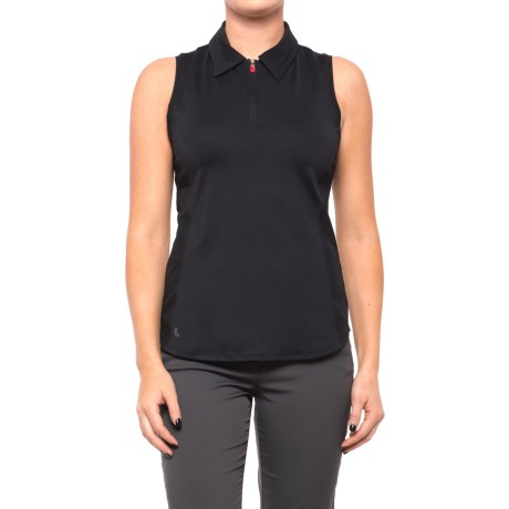 Lole Clarissa Tank Top - UPF 50+, Zip Neck (For Women) in Black