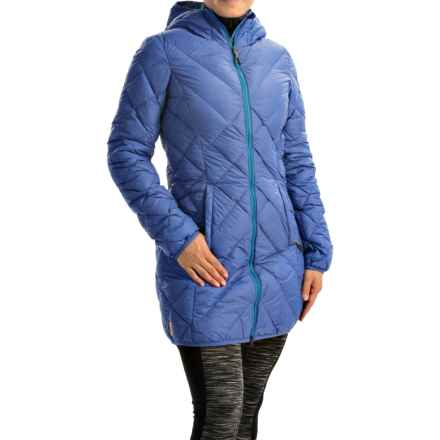 Lole Claudia Down Jacket - 675 Fill Power, Hooded (For Women) in Heather Jasper - Closeouts