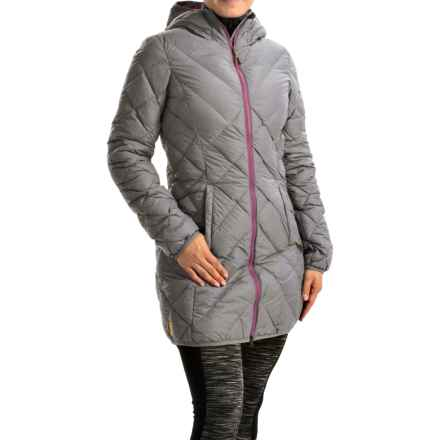 Lole Claudia Down Jacket - 675 Fill Power, Hooded (For Women) in Silver Heather - Closeouts