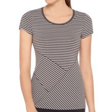 Lole Curl T-Shirt - UPF 50+, Short Sleeve (For Women) in Dark Charcoal Stripe - Closeouts