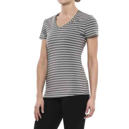 Lole Curl T-Shirt - UPF 50+, Short Sleeve (For Women) in White Stripe - Closeouts