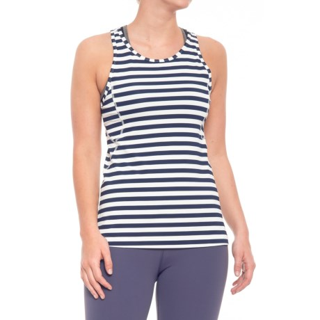 Lole Daphnee Racerback Tank Top (For Women) in Mirtillo Blue Stripe