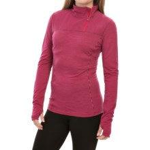 Lole Delight Merino Wool Shirt - Zip Neck, Long Sleeve (For Women) in Mulberry Stripe - Closeouts