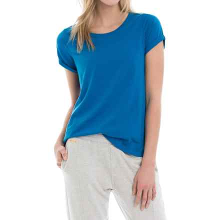 Lole Dia T-Shirt - Scoop Neck, Short Sleeve (For Women) in Vallarta Blue - Closeouts