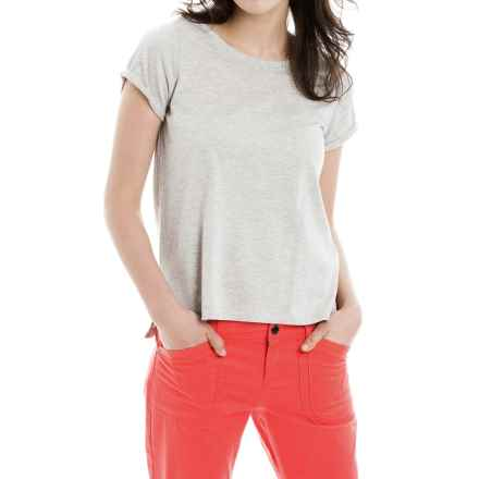 Lole Dia T-Shirt - Scoop Neck, Short Sleeve (For Women) in Warm Grey Heather - Closeouts