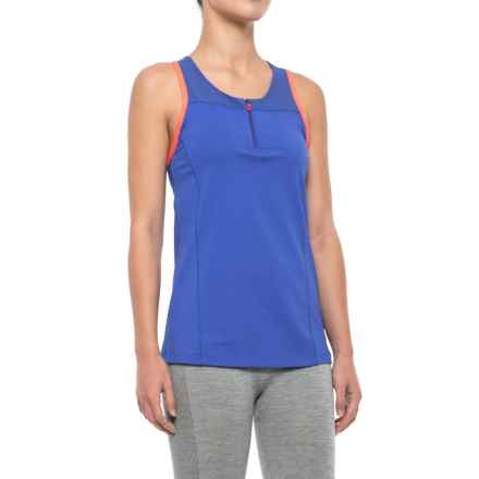 Lole Ebelle Racerback Tank Top - Zip Neck, Built-in Bra (For Women) in Dazzling Blue - Closeouts