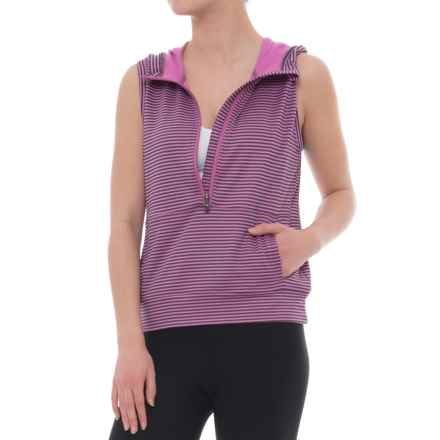 Lole Echo Hoodie - Sleeveless (For Women) in Spring Crocus Stripe - Closeouts
