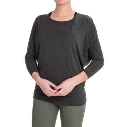 Lole Elisia Shirt - Cotton-Lenzing Modal®, Long Sleeve (For Women) in Black Heather - Closeouts