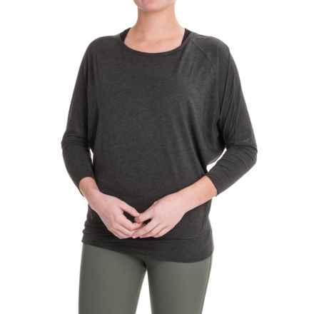 Lole Elisia Shirt - Cotton-Lenzing Modal®, Long Sleeve (For Women) in Black Heather - Closeouts