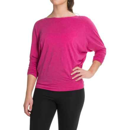 Lole Elisia Shirt - Cotton-Lenzing Modal®, Long Sleeve (For Women) in Crushed Berries Heather - Closeouts