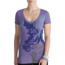 Lole Ellie Graphic Top - Organic Cotton, Short Sleeve (For Women) in Iris Mix - Closeouts