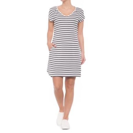 Lole Energic Dress - Short Sleeve (For Women) in Meteor Stripe