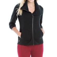 Lole Essence Cardigan Sweater - Full Zip (For Women) in Black - Closeouts