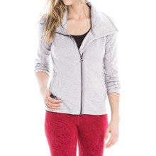 Lole Essence Cardigan Sweater - Full Zip (For Women) in Warm Grey Heather - Closeouts
