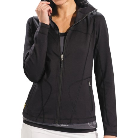 Lole Essential Cardigan Sweater - UPF 50+, Full Zip (For Women) in Black