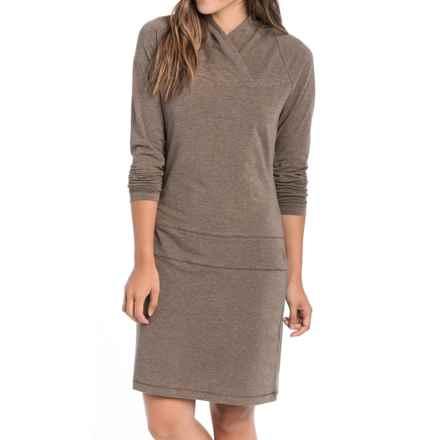 Lole Evolt Dress - Long Sleeve (For Women) in Walnut Heather - Closeouts