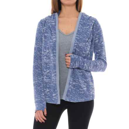 Lole Febe Hooded Cardigan Sweater (For Women) in Midnight Heather - Closeouts