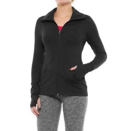 Lole Full-Zip Running Jacket (For Women) in Black - Closeouts