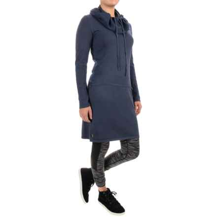Lole Gala Cowl Neck Dress - Long Sleeve (For Women) in North Sea Heather - Closeouts