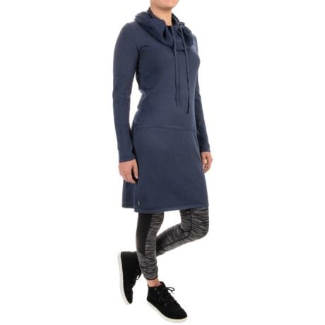 Lole Gala Cowl Neck Dress - Long Sleeve (For Women) in North Sea Heather