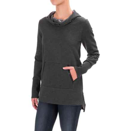 Lole Gali Tunic Hoodie - Long Sleeve (For Women) in Black Heather - Closeouts