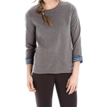 Lole Gracie Shirt - Long Sleeve (For Women) in Charcoal Heather - Closeouts