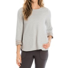 Lole Gracie Shirt - Long Sleeve (For Women) in Warm Grey Heather - Closeouts